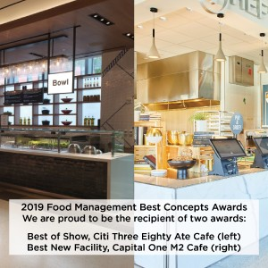 Three Eighty Ate and M2 Cafe Best Concepts Award Winners