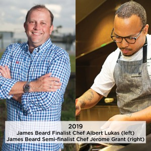 Chefs Albert Lukas and Jerome Grant Recognized by James Beard Foundation