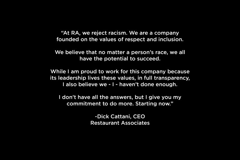 Letter from Dick Cattani to All RA Team Members Addressing Equality